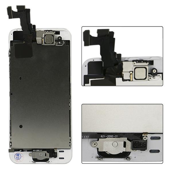 Beste A ++++ Qualität für iPhone 5 5C 5S LCD Touch Ersatzbildschirm Digitizer Komplettset Montage Weiß Schwarz Frontkamera + Home Button + Tool