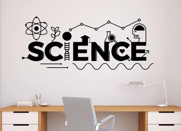YOYOYU Art Home Decor Science School Education Classroom Interior Wall Decal Vinyl Sticker Home Decoration Design Murals WW-489