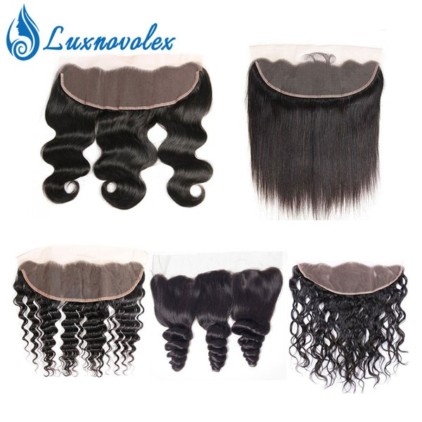 Body Wave 13x4 Lace Frontal Brazilian Virgin Hair Pre Plucked Baby Hair Straight Loose Deep Wave Water Wave Curly Hair Closure 8-20 inch