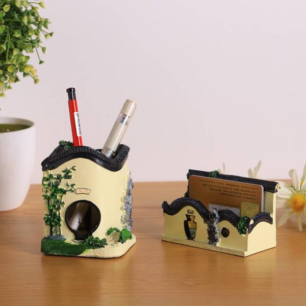 Großhandel Kunsthandwerksbaumuster Bürohalter Bürotisch Dekoratives Handwerk Der Dekorativen Visitenkarten Visitenkarten Von Tangyunge 8 95 Auf