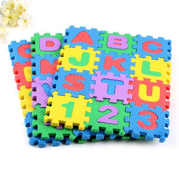 Carta de la historieta de la alfombra de la espuma de la herramienta de la educación de la primera infancia Rompecabezas digital Estera de arrastre del bebé Herramienta creativa del aprendizaje de idiomas