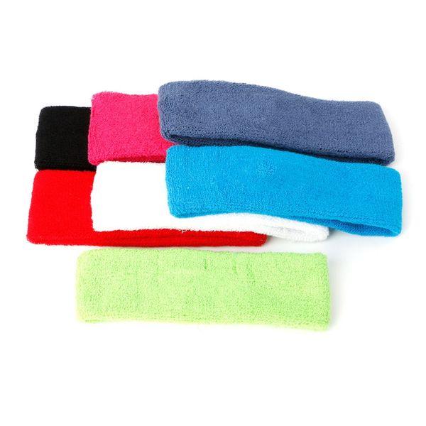 Women Men Sport Cotton Blend Sweatband Headband Yoga Stretch Hair Head Band