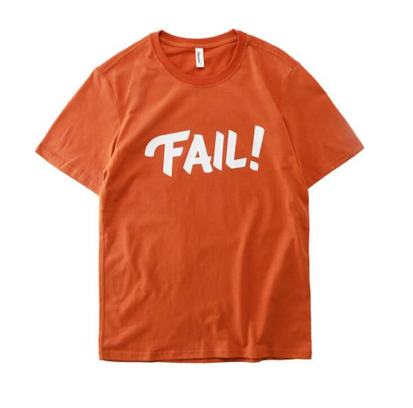 Fail Printing T-shirt Men Women Couple Dress Hip Hop Loose T-shirt Summer Short Sleeve Tee Men Casual T-shirt
