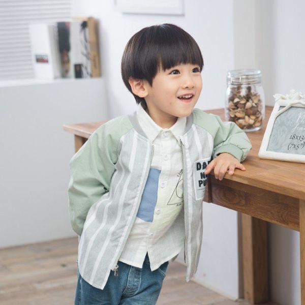 Child Baby Boy Baseball Sport Uniform Jacket 2018 Spring Autumn Zipper Cardigan Baby Boys Girls Sport Striped Outerwear