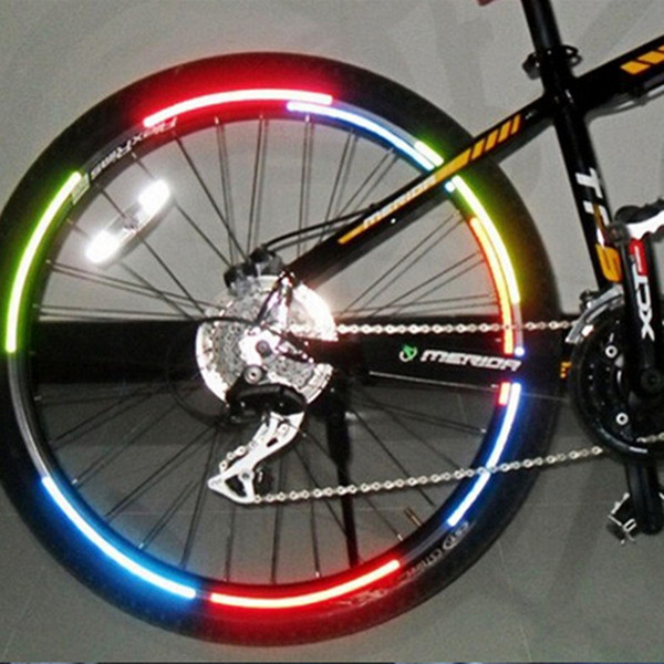 Bicycle reflector Fluorescent MTB Bike Bicycle Sticker Cycling Wheel Rim Reflective Stickers Decal Accessories free shipping