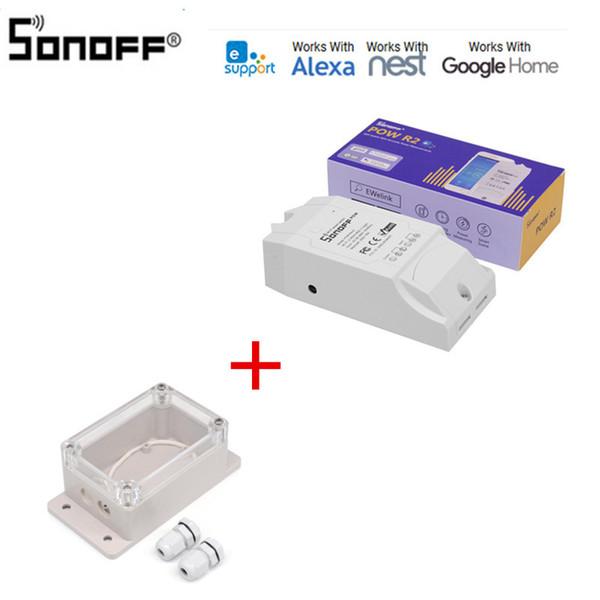 Sonoff Pow R2 16A Wifi Switch Inteligente Com maior precisão Uso de Energia Smart Monitor Home Power medição funciona com o Google Início