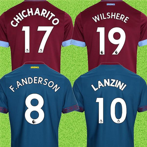 1f0f7130d Top Tailândia CHICHARITO F. anderson WILSHERE Felipe Anderson West Ham  camisa de futebol unida 2019
