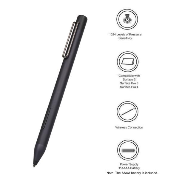 ME-MPP303B Portátil Active Stylus Mini Pen Stylet Pantalla táctil de Caneta Compatible con Surface 3 Pro3 Pro4 Hand-held Pen Pointer