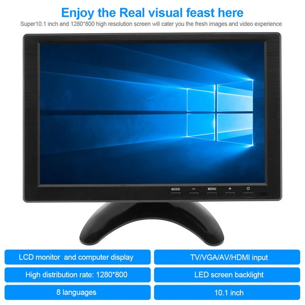 10.1 pulgadas multifunción HD Car Reposacabezas Monitor TFT LCD HD Digital pantalla compatible con HDMI VGA AV USB TV CMO_30V