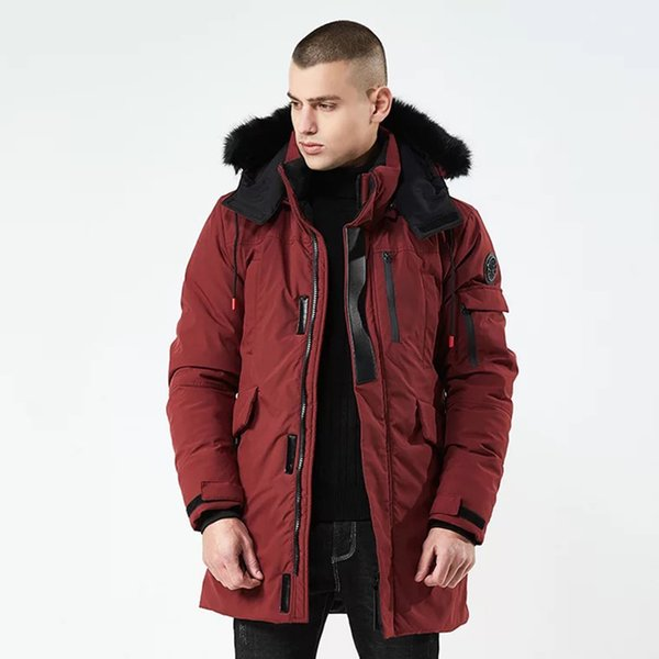2018 Winter jackets for men fur hooded PARKA detachable warm wind breaker long stylish mens winter coats men parkas for russia
