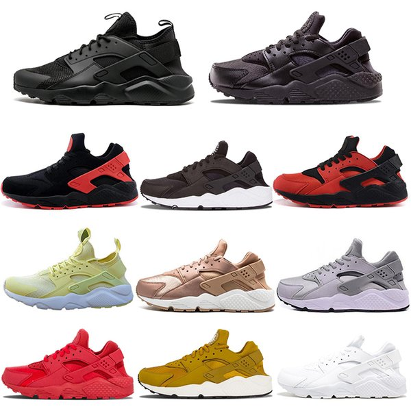 f8bf3dff537b Huaraches 1.0 4.0 Huarache Ultra Running Shoes For Mens Women Black White  Red Sneakers Triple Sports