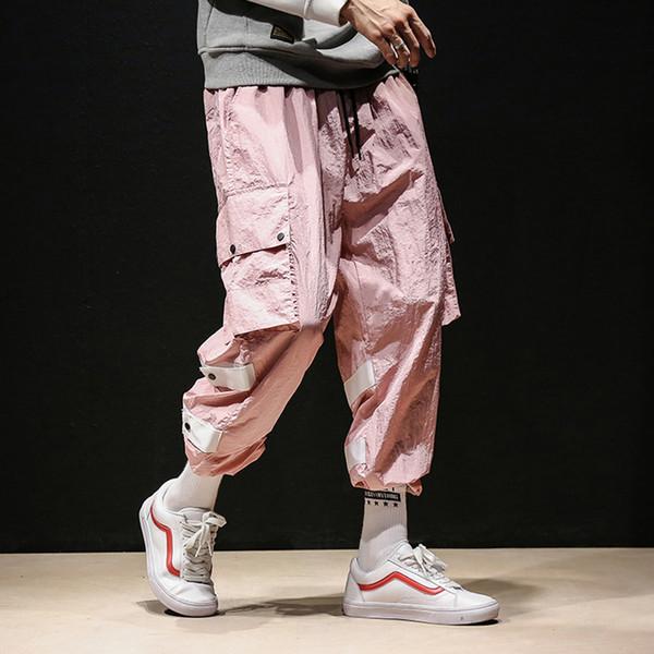 High Street Hip Hop Pantalones casuales Moda masculina suelta Harem Pant Hombres  Joggers Pantalones Pantalones de 422a569d939