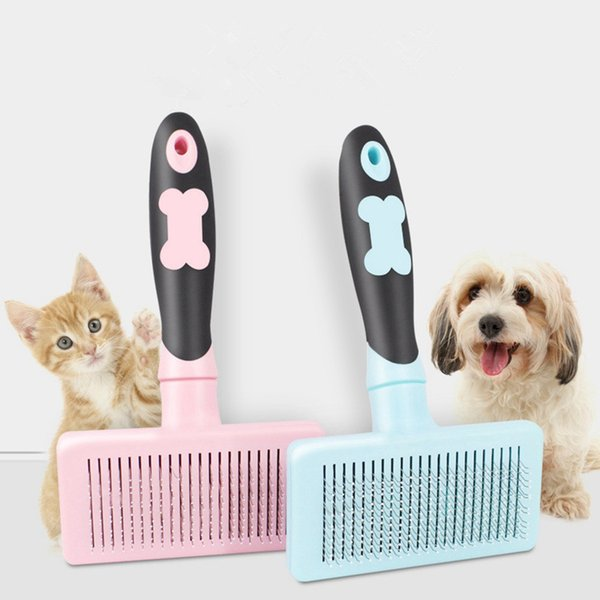 Pet Grooming Tool Cat Dog Comb Hair Brush for Shaggy Dog Automatic Push Needles Large Dogs Hair Removal Combs Pet Massage Brush