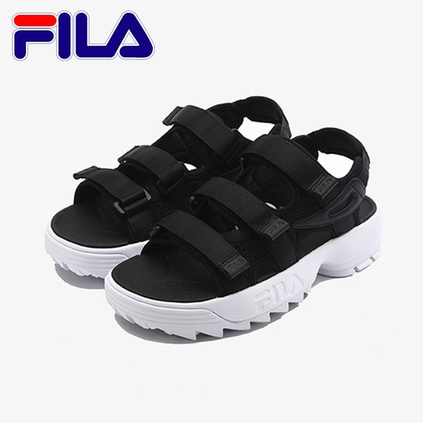 8de049d21a Fashion Fila Sandals 2 For Men Women 2018 Beach Slippers Black White ...