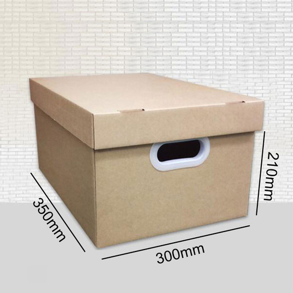 5 PCS Office file sorting box storage box extra hard big size moving carton with lid buckle packing size 350x300x210mm