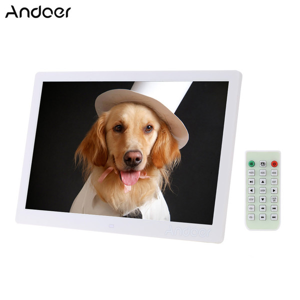 """wholesale 15.6"""" LED Digital Picture Frame 1280*800 High Resolution Photo Display Alarm Clock Movie Player w/ Remote Control Gift"""