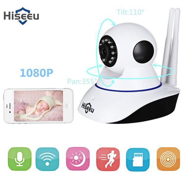 Hiseeu WiFi IP Camera HD 1080P Wireless Indoor Security Cam IR Night Vision Pan Tilt P2P Motion Detection Surveillance CCTV