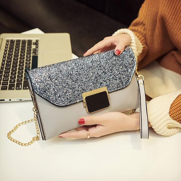 Nuove donne di modo della spalla della borsa di nozze della borsa della frizione di nozze della signora delle donne di modo 2018 della borsa della borsa della borsa di giorno