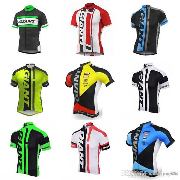 GIANT team Cyclisme manches courtes maillot de cyclisme Sweat-shirt à manches courtes Vêtements d'équitation Porter chaleur antibactérienne confortable New Jersey D212