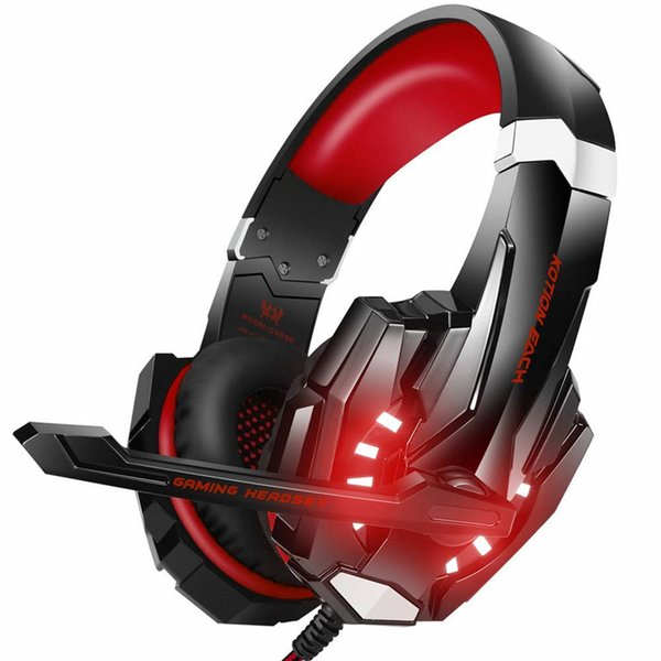 Hot Gaming Headphone 3.5mm Game Headset with Glaring LED Light Noise Reduction Microphone Stereo Headband Earphone for PS4 Smartphone PC