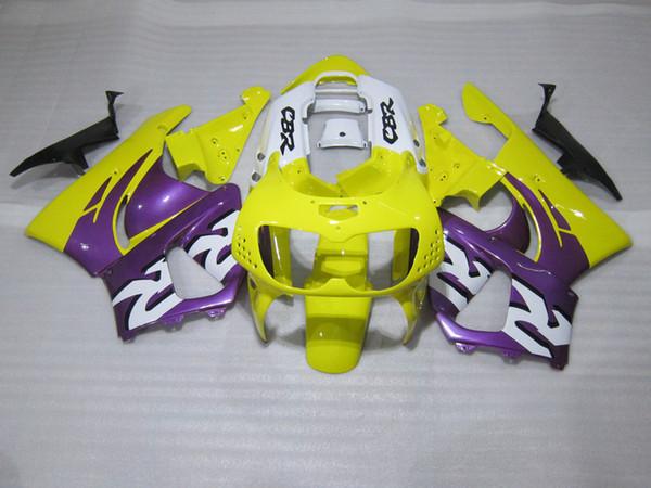 Carenagens de venda quente para Honda CBR900RR CBR 893 1996 1997 amarelo branco roxo carenagem kit CBR893 96 97 GG33