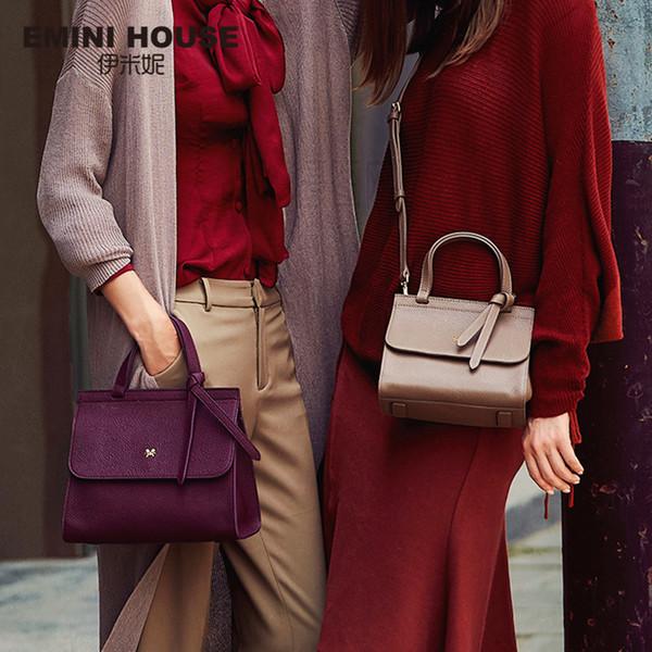 1beef23a88 EMINI HOUSE Bow Tie Luxury Handbags Women Bags Designer Women s Genuine  Leather Handbags Litchi Grain Shoulder