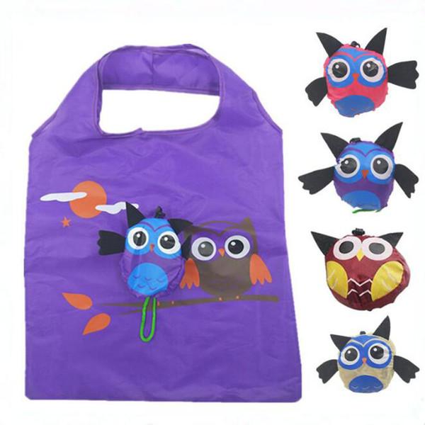 2018 Cute Animal Owl Shape Folding Shopping Bag Eco Friendly Ladies Gift Foldable Reusable Tote Bag Portable Travel Shoulder Bag