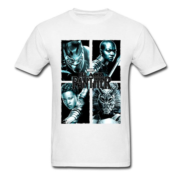 Men's Cool T Shirts Black Panther Print Leisure Wholesale 3D Printed T Shirt 100% Cotton Fashion Tops Tees High Quality Shirts O-NECK