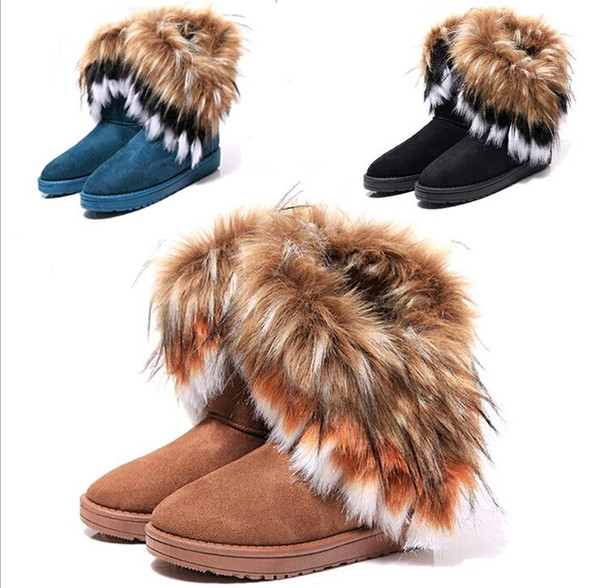 2c03080c71f1 Hot sale !Free shipping Fashion Rabbit hair and Fox Fur In tube Color  matching warm