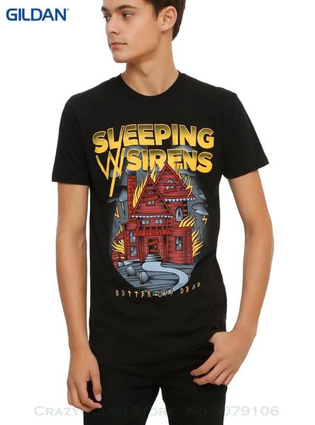 Lose BaumwollT-Shirts für Männer Coole Oberseiten-T-Shirts Schlafen mit Sirens besser weg von totem T-Shirt