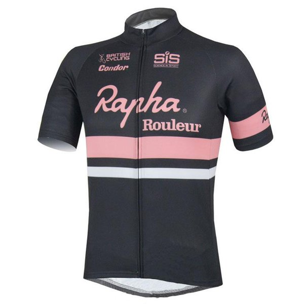 top popular 2018 rapha Cycling Jersey Bicycle Tops Summer Racing Cycling Clothing Ropa Ciclismo Short Sleeve mtb Bike Shirts Maillot Ciclismo H0902 2019
