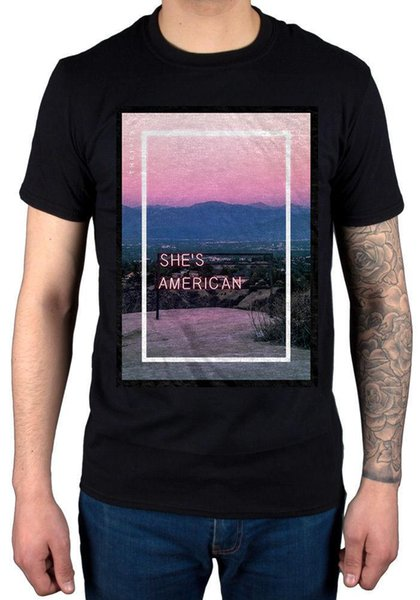 Oficial The 1975 She's American Camiseta Unisex Music Band IV Vintage Tour FaceD