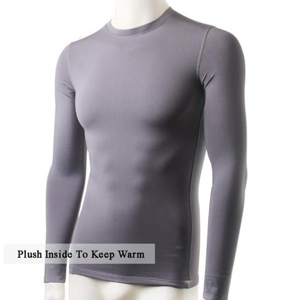 2017 Tracksuit for Men Solid Corset Top Winter Men Slim Fit Long Sleeve Thermal Underwear Basic Tops Undershirt New