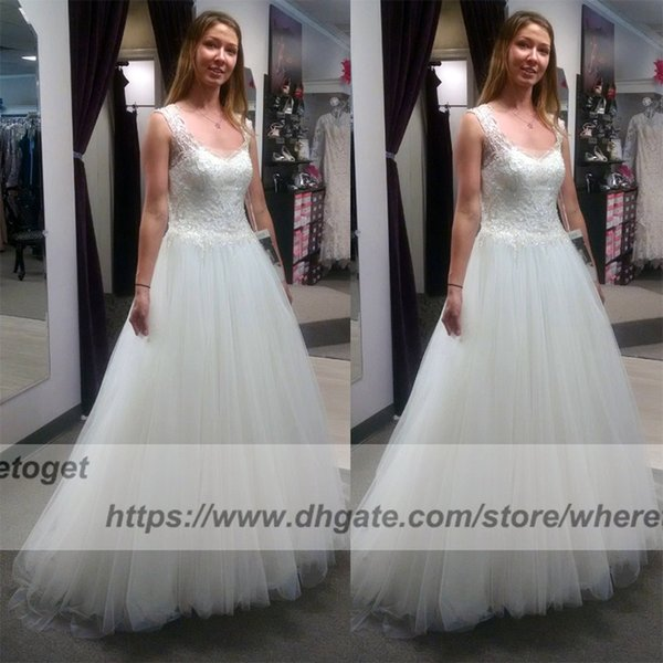 Gorgeous bling beading country Wedding Gowns Bridal Dresses boho backless cape sleeves scoop neck plus size A Line Wedding Dresses 2018