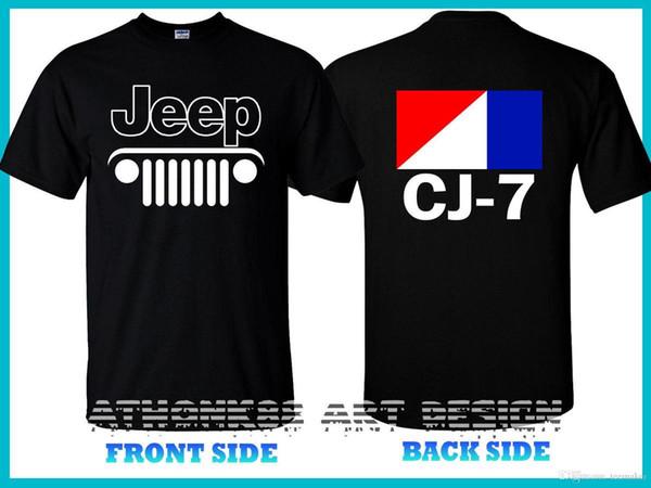 Jeep Cj-7 T-Shirt Jeep Srt8 Land Cruiser Eep 4X4 T-Shirt Summer Short Sleeves Cotton