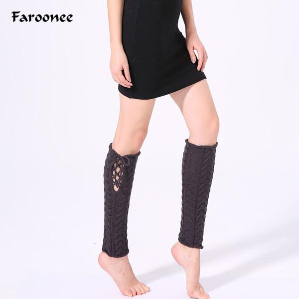Compre Faroonee 2018 Harajuku Moda Mujeres Señoras Invierno Knit ...
