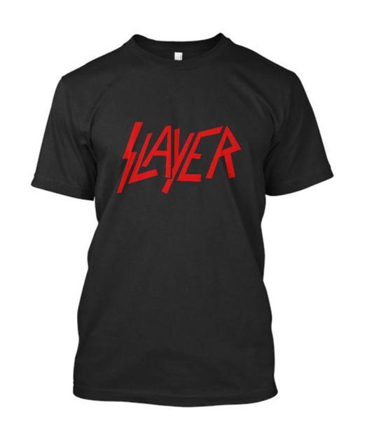 New Slayer Metal Band Men's Black T-Shirt Size S-3XL New Short Sleeve Round Collar 2018 Fashion Short T Shirt Short Sleeve Tops