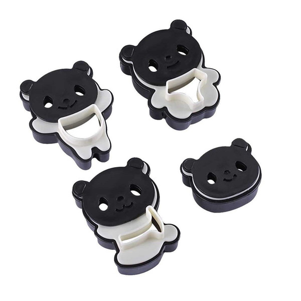 Plastic Cartoon Panda Molds Cookies Cutters Cooking Tool Set Cake Baking Tools Cute DIY Sandwich Mold Kitchen Accessories 3 5hy hh