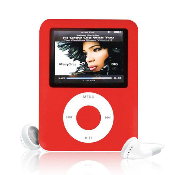 Hot Slim High Quality MP4 With Earphones 8GB 1.8inch Screen LCD Media Video Game Movie FM Radio 3th Generation MP4 Music Player