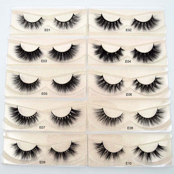 top popular Mink Lashes 3D Mink Eyelashes 100% Cruelty free Lashes Handmade Reusable Natural Eyelashes Wispies False Lashes Makeup E series mink eyelash 2020