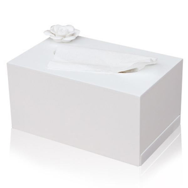 MIZHI 1 Wooden creative living room flower pattern car drawer napkin storage box toilet paper box tissue 17 * 12 * 10CM