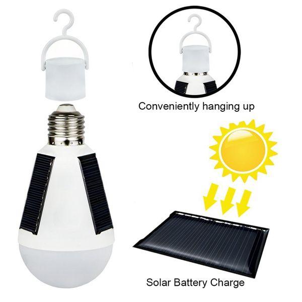 top popular Edison2011 12W E27 Hanging Solar Bulb Energy Rechargeable Emergency LED Bulb Light IP65 Waterproof Solar Panels Powered Night Lamp 2019