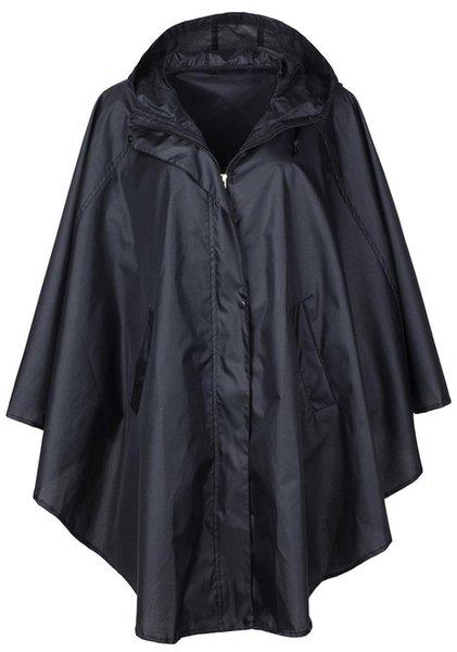 Yürüyüş ve Bisiklet için Hood ile Şık Pongee Suya Yağmurluk Yağmur panço Trençkot JJ-SYYY93-