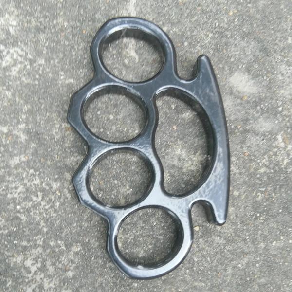 Толстый и мощные пряжки ремня для мужчин и женщин латунных кастетов черного стального кастета 1шт