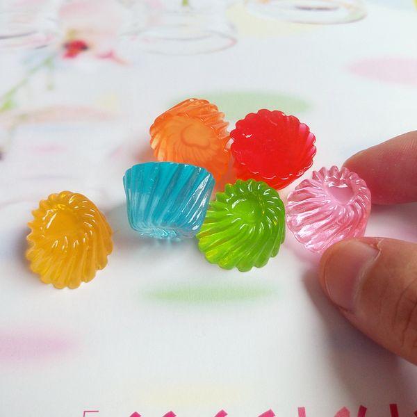 ecoration Crafts Figurines Miniatures Tanduzi 20pcs Mixed Color Flatback Resin Cabochons Simulation Food Jelly Candy DIY Dollhouse Miniat...