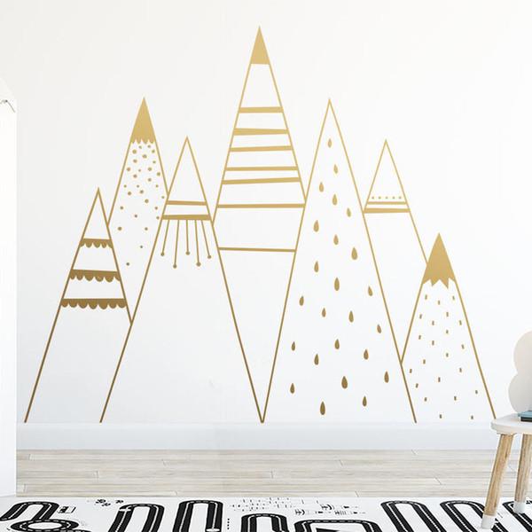 Acheter Montagne Sticker Mural Chambre Bébé Art Mural Chambre Décor Style  Nordique De $34.76 Du Gor2don | DHgate.Com