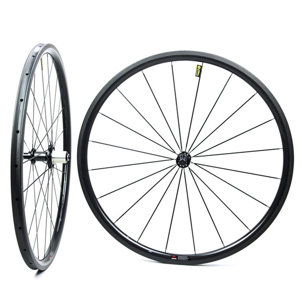 30mm Low Profile 700c Road Bike Carbon Wheel Bicycle Wheelset Tubular Tubeless With NOVATEC Straight Pull Hub UCI Quality