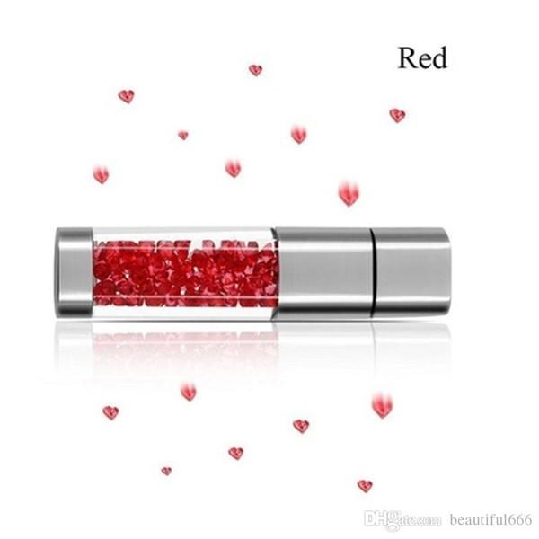 100% Real Capacity Crystal Diamond 2.0 USB Flash Drive Memory Stick 128GB Super Pen Drive