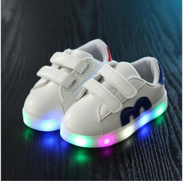 Chaussures Mädchen Shoes Sport de Kleinkind Von Flash courseLeucht Jungen de Neue 30 Tennis Size21 Chaussures Leuchten Großhandel Frühling Enfants Baby 7vfybY6g