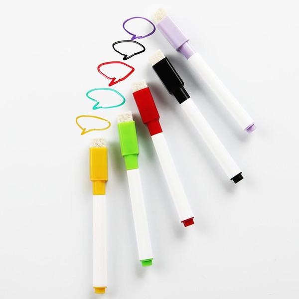 6 Teile / satz Nagelneu Magnetische Whiteboard Stift Löschbaren Trockenen Whiteboard Marker Errichtet In Radiergummi Büro Schulbedarf